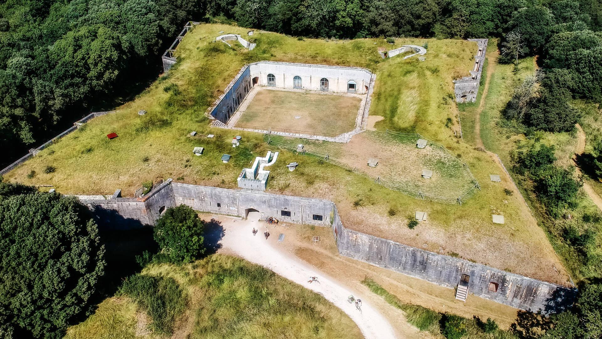 Le Fort Liédot vu du ciel