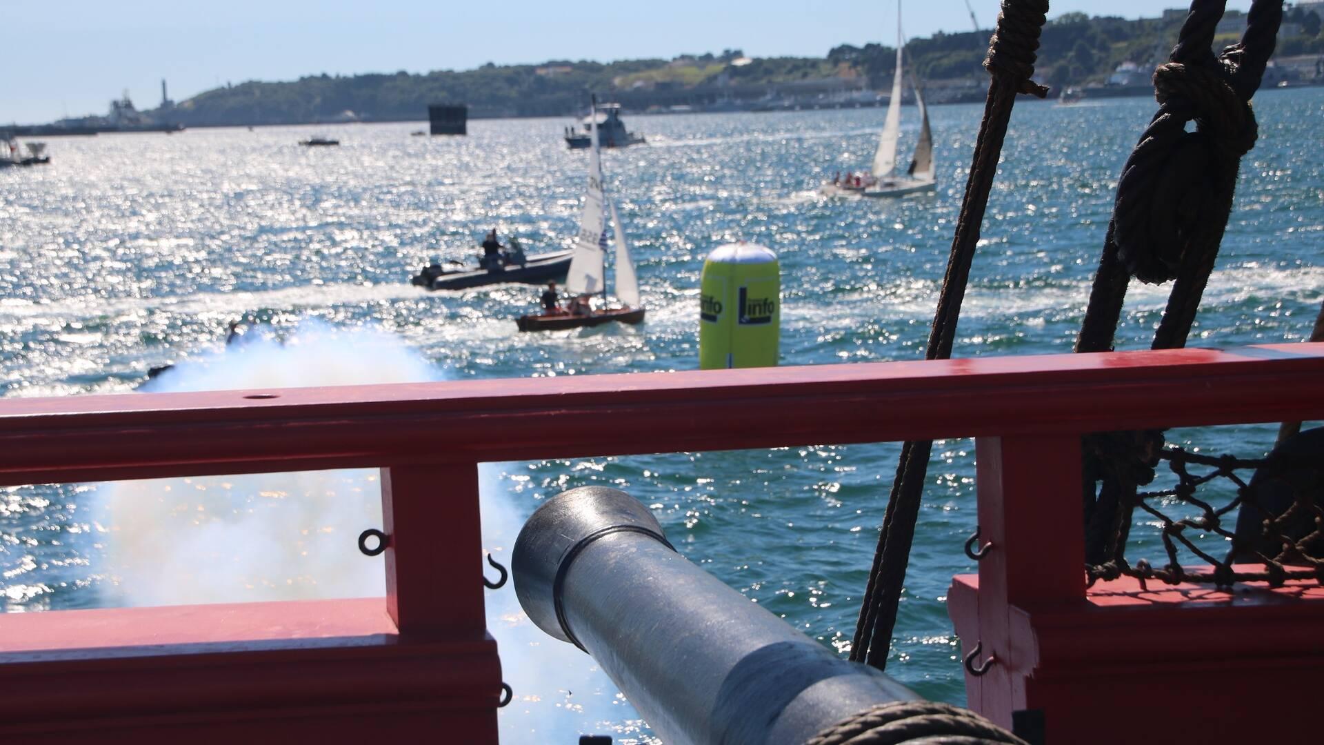 Coup de canon - Brest 2016 © M. de Villartay