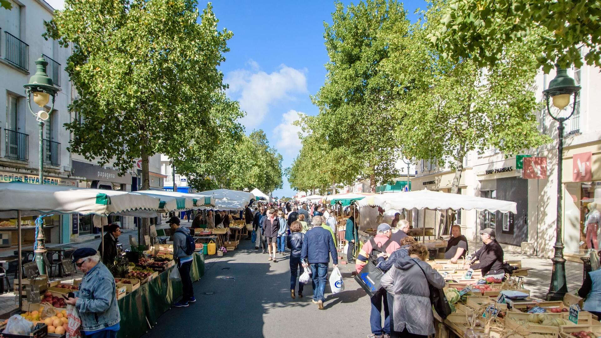 Le marché de Rochefort