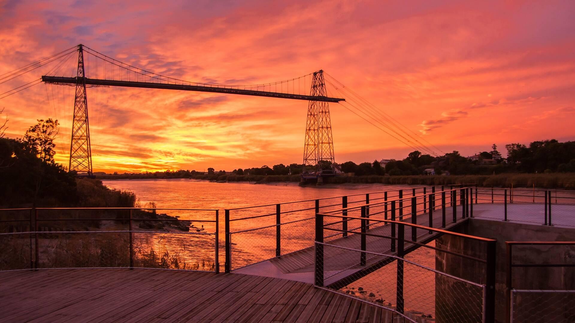 Coucher de soleil sur le Pont Transbordeur