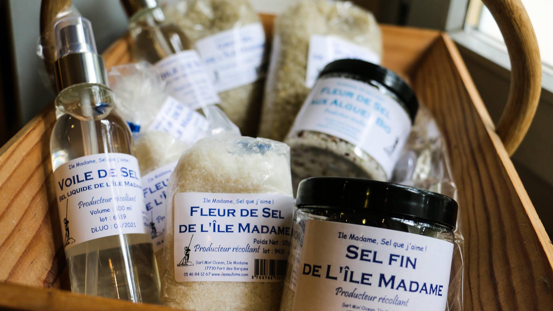 Les produits de la ferme aquacole de l'île Madame ©J.Paulet