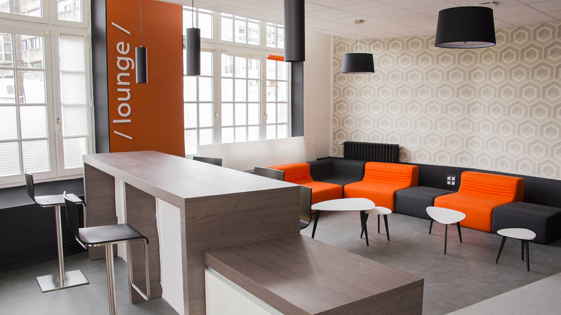 Espace Lounge du Co-Working de Rochefort©CARO