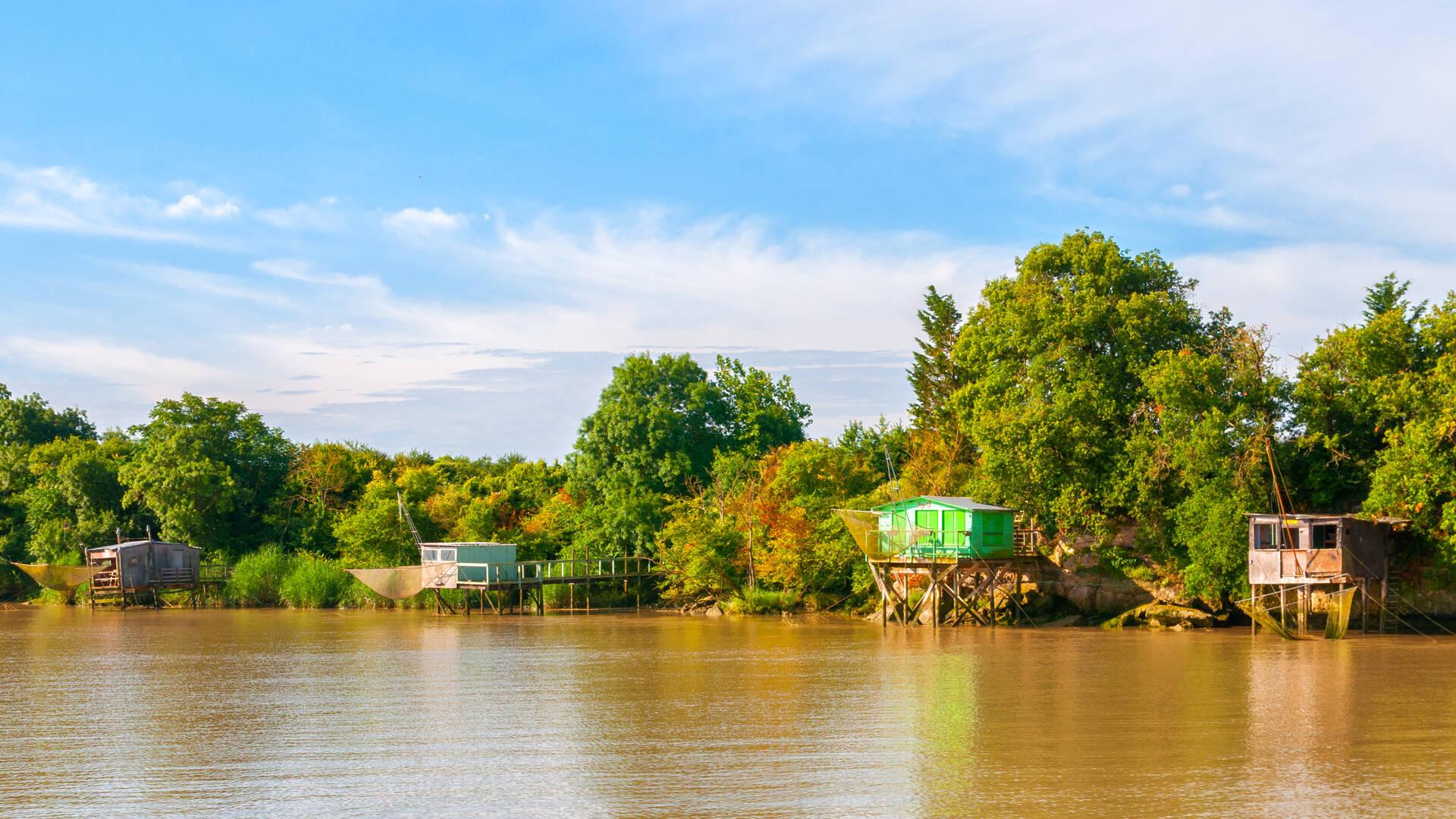 Les carrelets au fil du fleuve Charente - Rochefort Océan