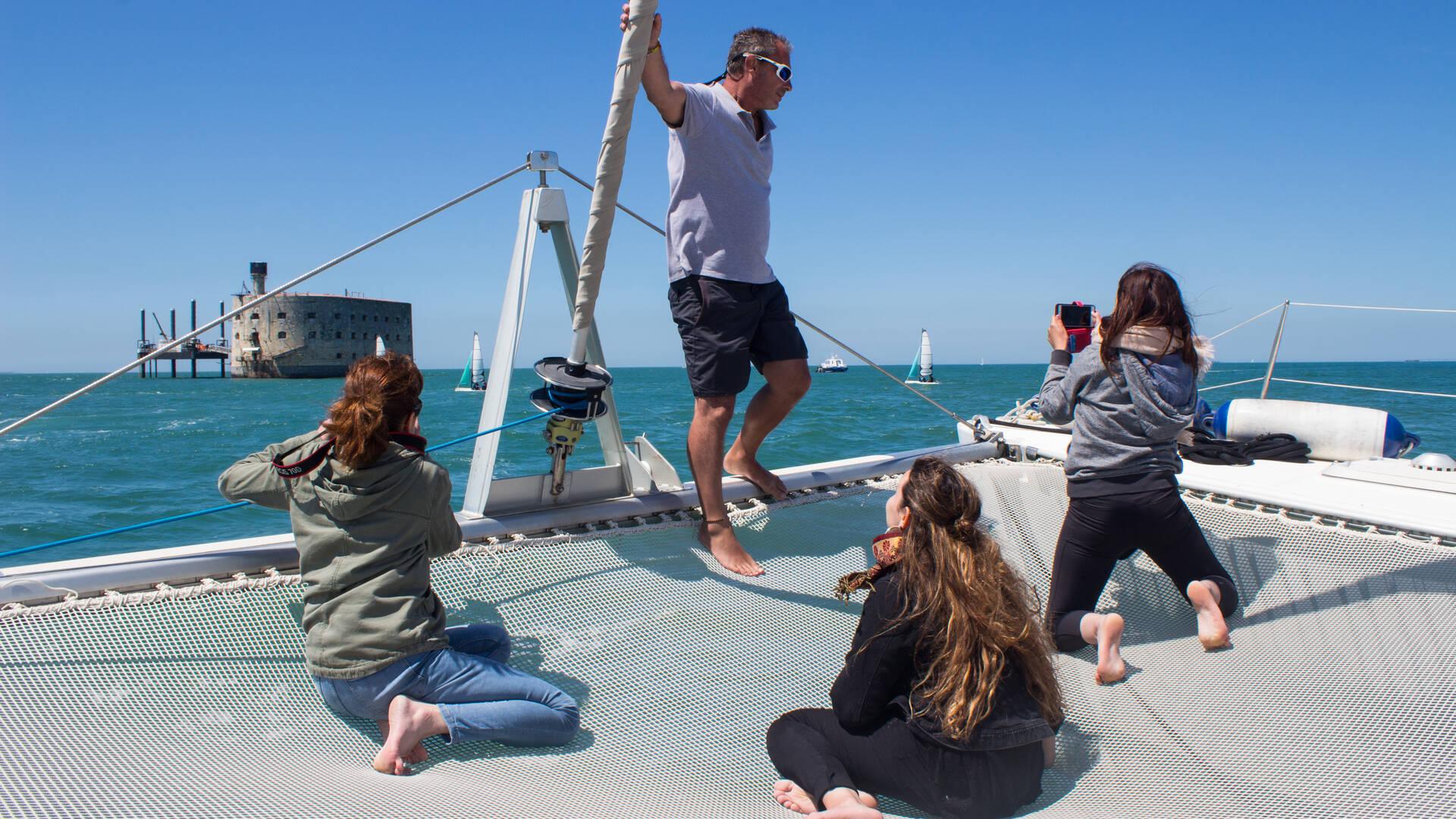 Nautisme, cap vers fort Boyard en catamaran avec Boyard Croisière, Fouras, Rochefort Océan