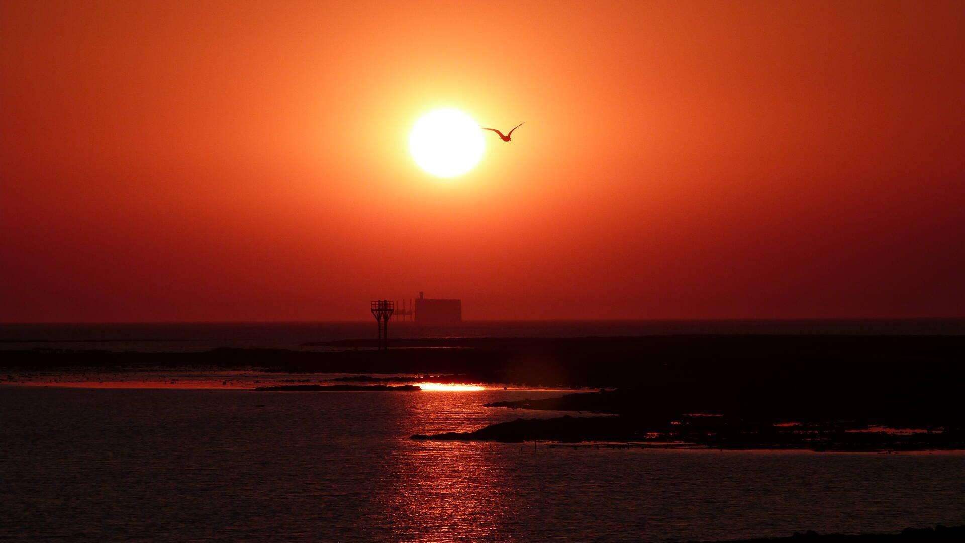 rochefortocean-coucher-de-soleil-fort-boyard-fouras-pointe-de-la-fumée © Marine de Villartay OTRO