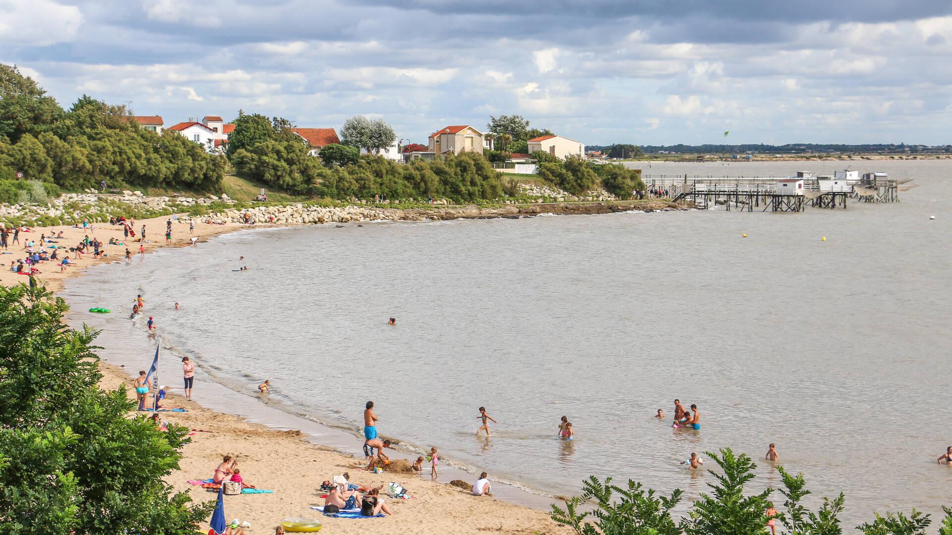 La station balnéaire de Fouras-les-Bains, plage Sud, Rochefort Océan, Charente-Maritime