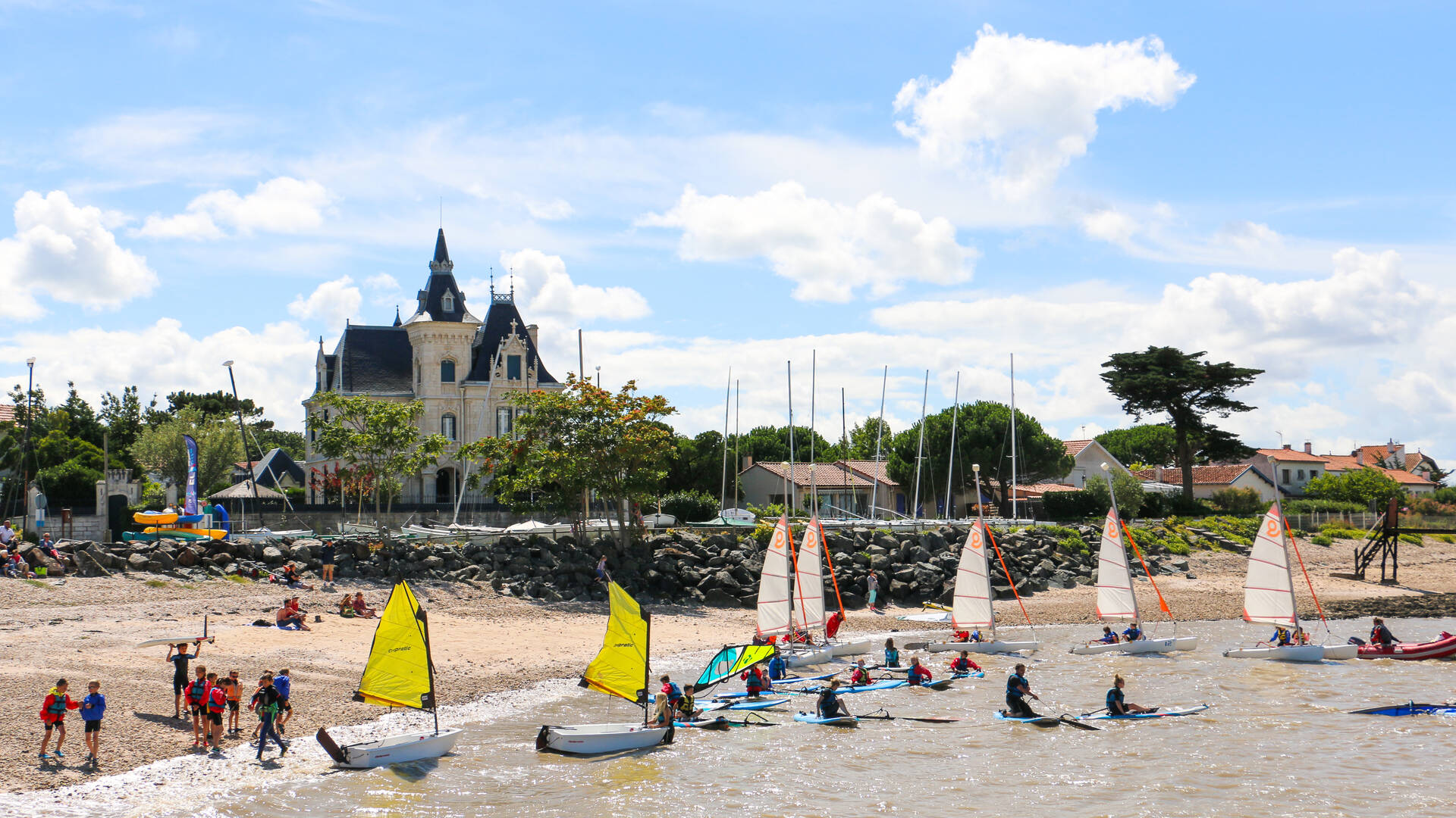 Nautisme, station balnéaire de Fouras-les-Bains, Rochefort Océan, Charente-Maritime