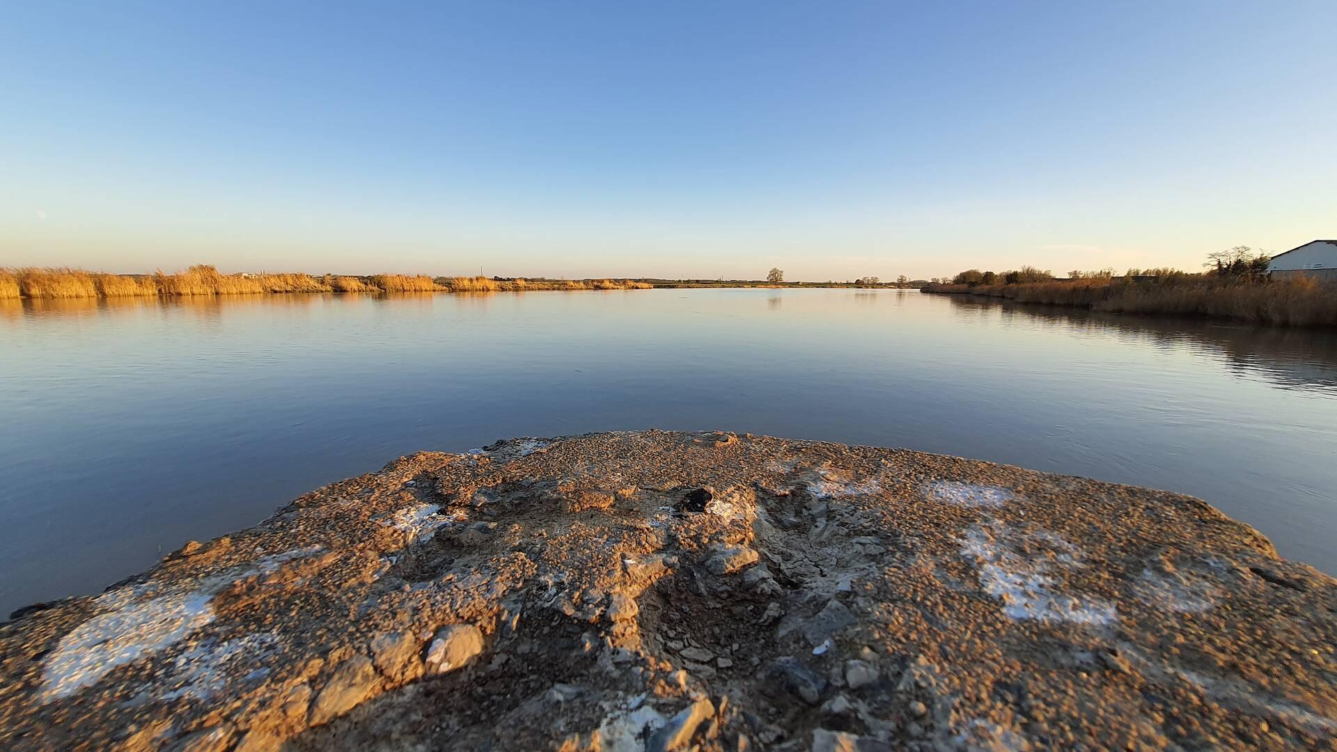 Promenade en bord de fleuve Charente ©C.Ecale