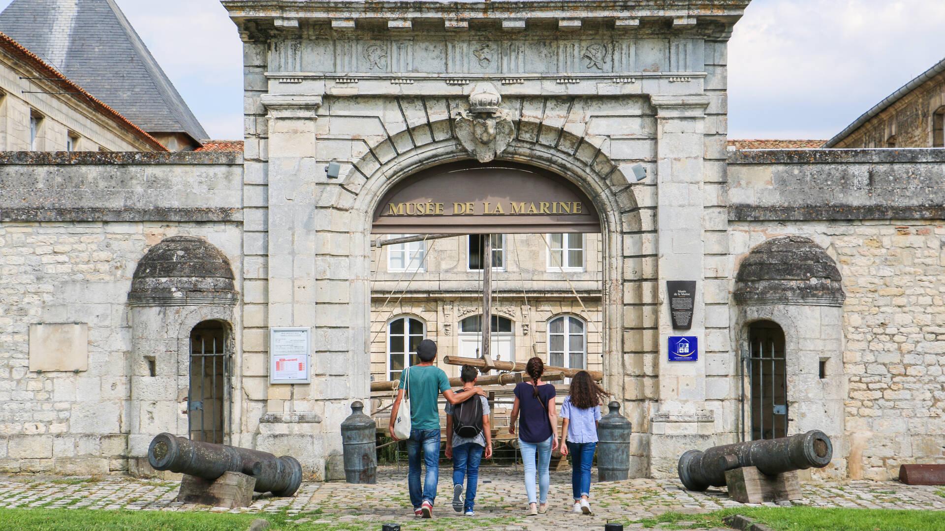 Entrée au musée de la Marine de Rochefort © Steven Boutin Office de Tourisme Rochefort Océan