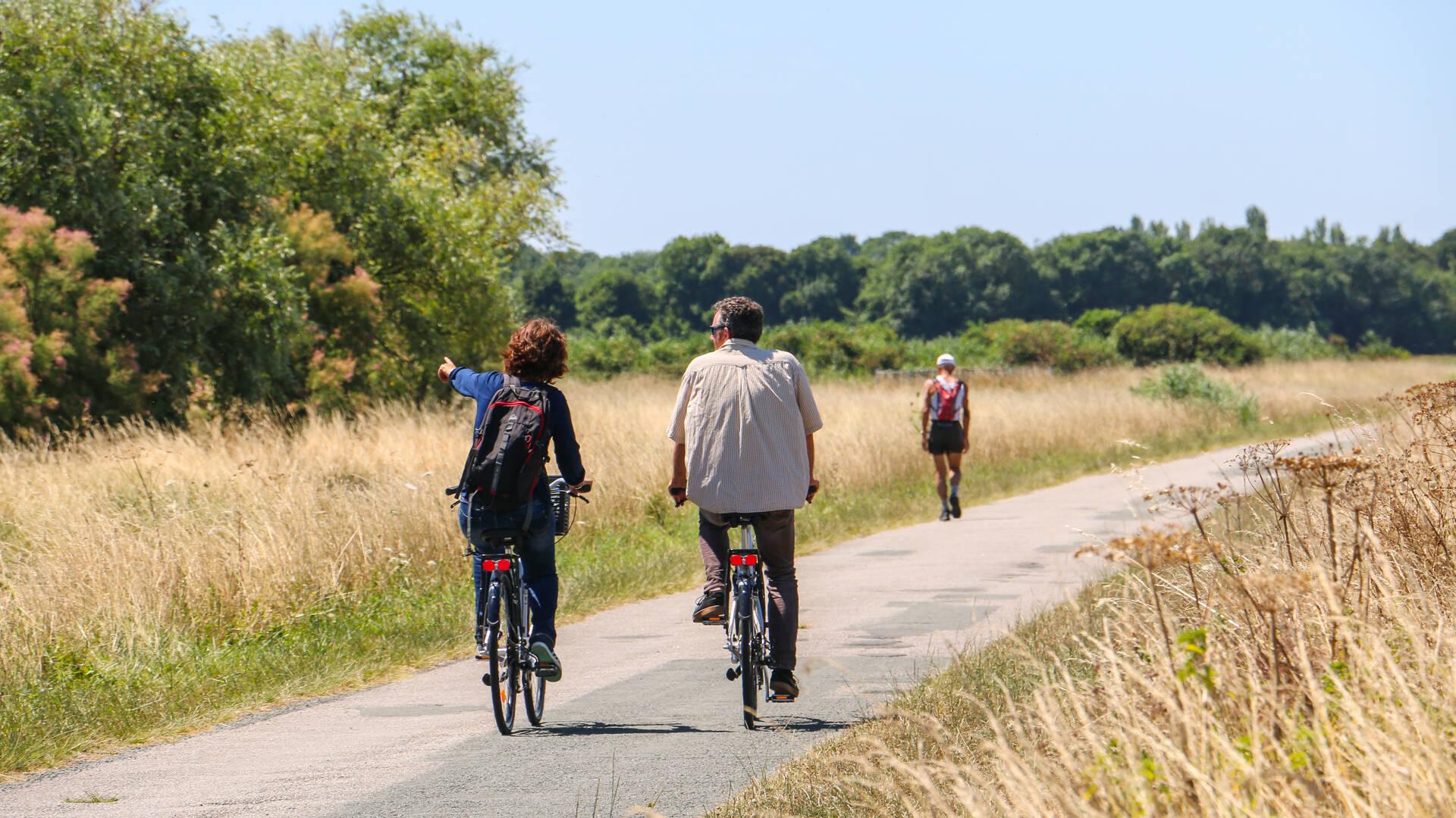 Balade à vélo à la station de lagunage © Steven Boutin Office de Tourisme Rochefort Océan