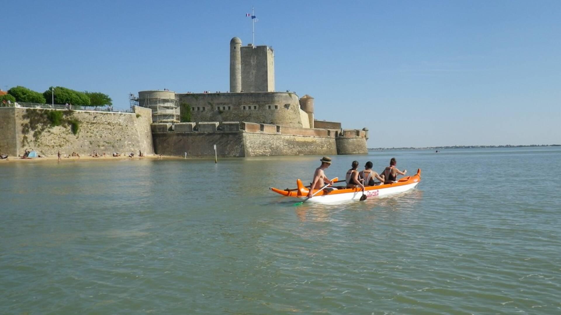 Kayak, activité nautique, Antioche Kayak, station balnéaire de Fouras-les-Bains, Rochefort Océan, Charente-Maritime