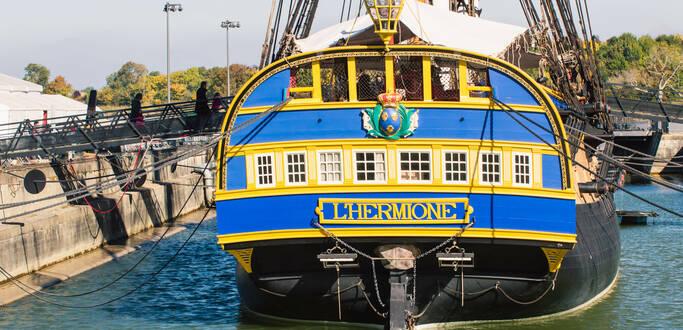 L'Hermione à Rochefort, son port d'attache ©L.Pétillon