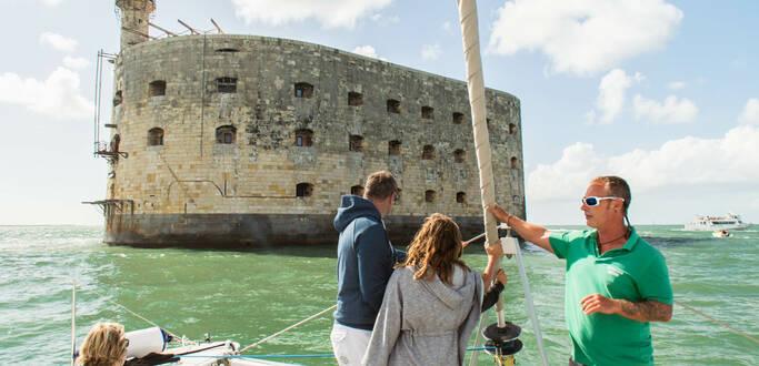 Le tour du Fort Boyard en bateau