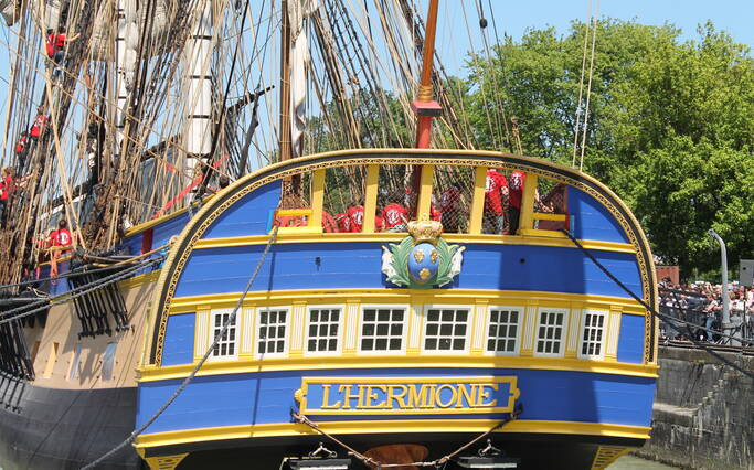 Visit the frigate Hermione in Rochefort
