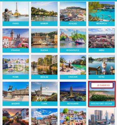20 destinations en Europe, dont Rochefort Océan !