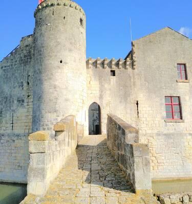 Le donjon du château de St Jean d'Angle ©L.Texier