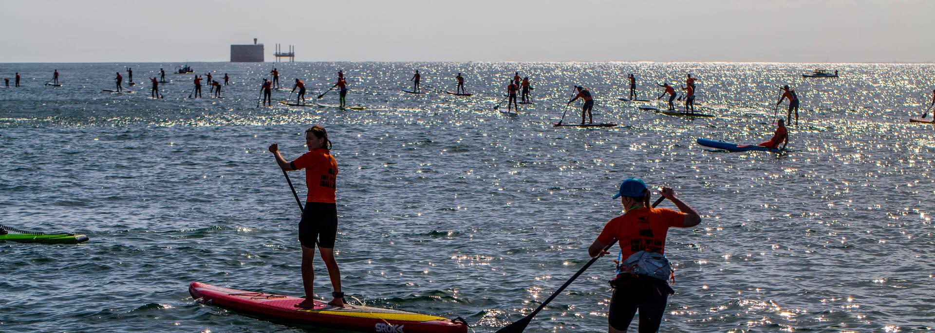 Fort Boyard Challenge, épreuve de stand-up paddle - © Images & Emotion