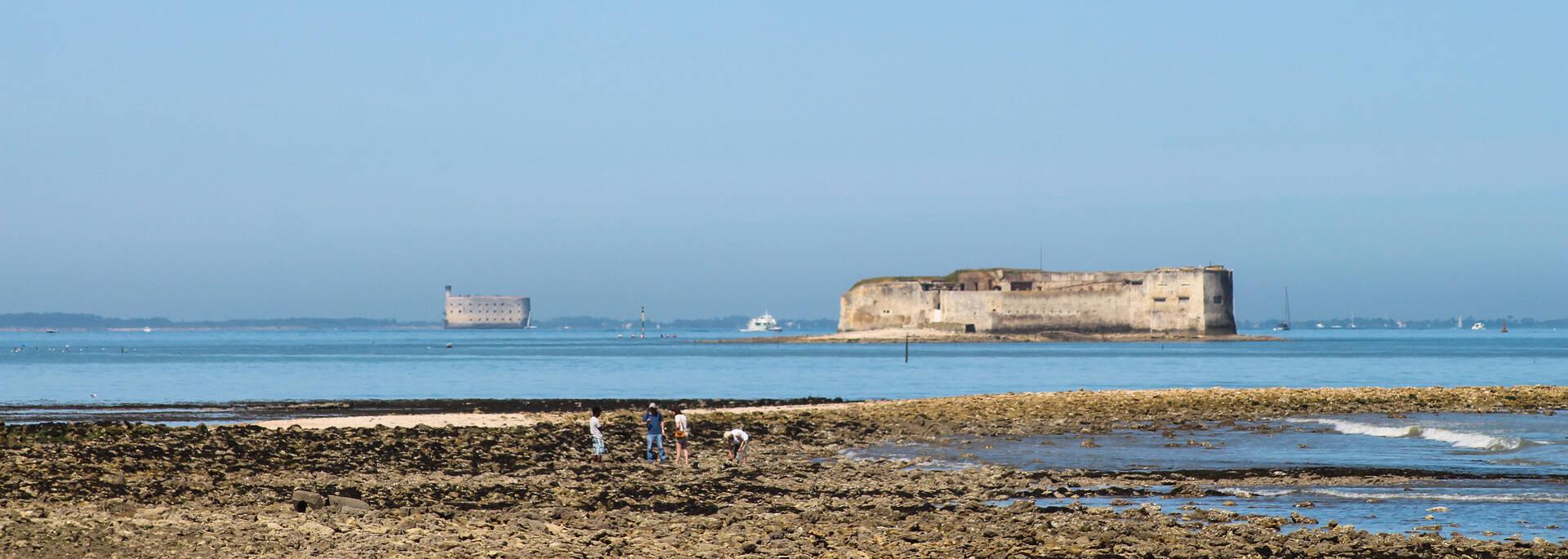 Fort Enet, accessible à marée basse depuis Fouras-les-Bains - © Office de tourisme Rochefort Océan