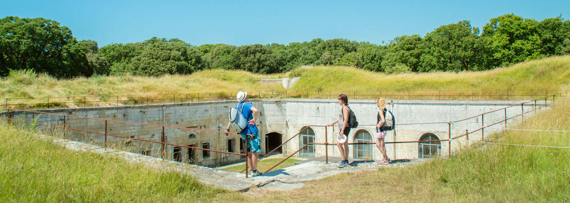 Visite du fort Liédot à l'île d'Aix - © Laurent Pétillon