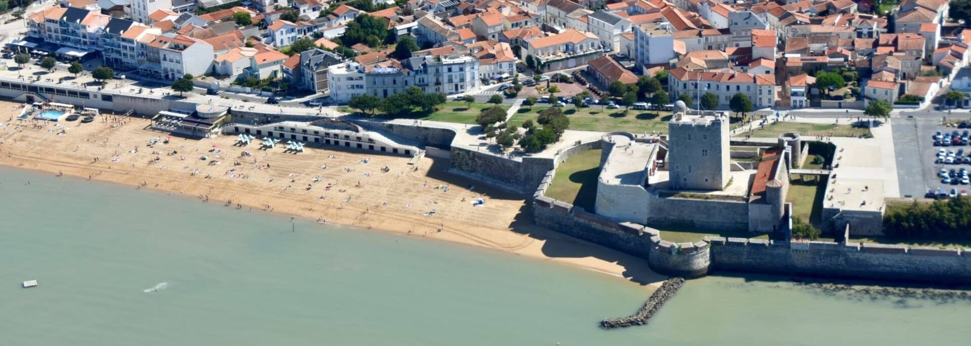 Aerial view on Fort Vauban in Fouras-les-Bains - © Camping Charente-Maritime