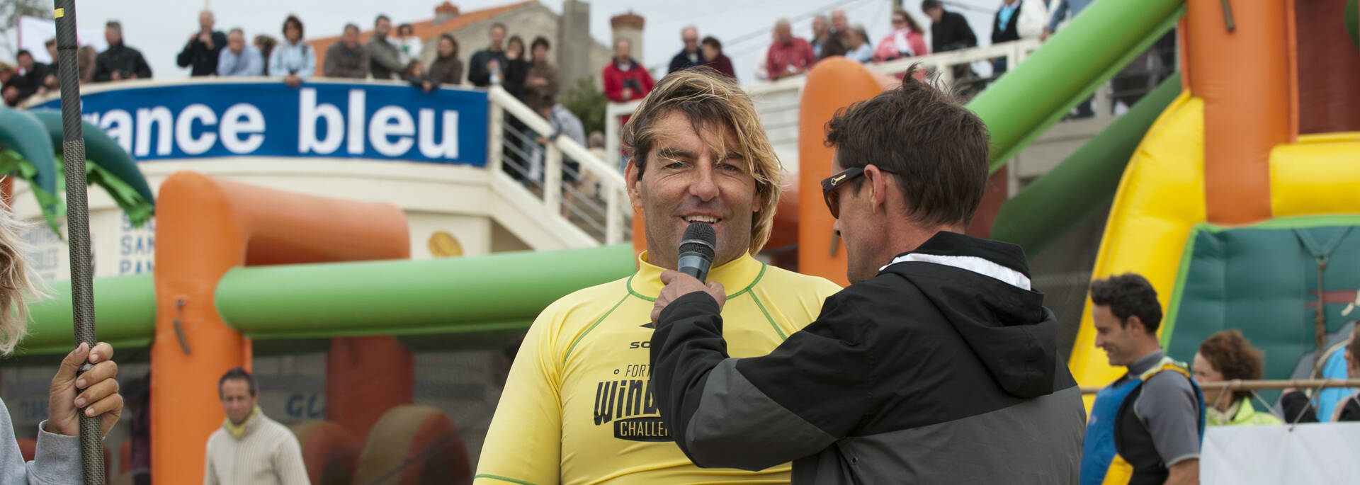 Antoine Albeau, windsurf world champion at Fort Boyard Challenge in Fouras-les-Bains - © Marie-Françoise Boufflet