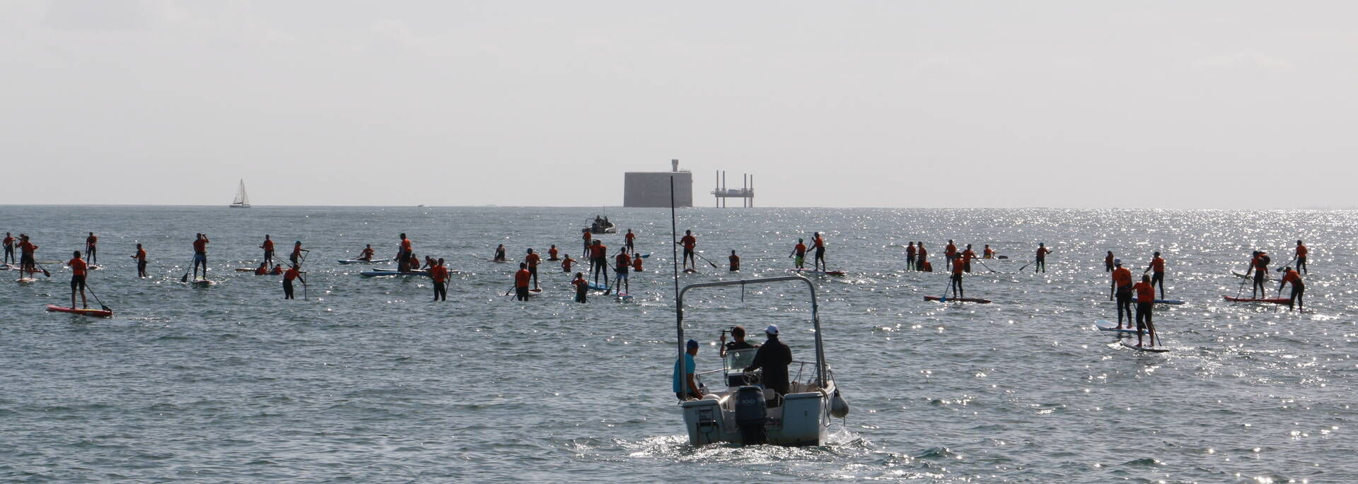 Stand up paddle competition at the Fort Boyard Challenge, Fouras-les-Bains - © Office de tourisme Rochefort océan