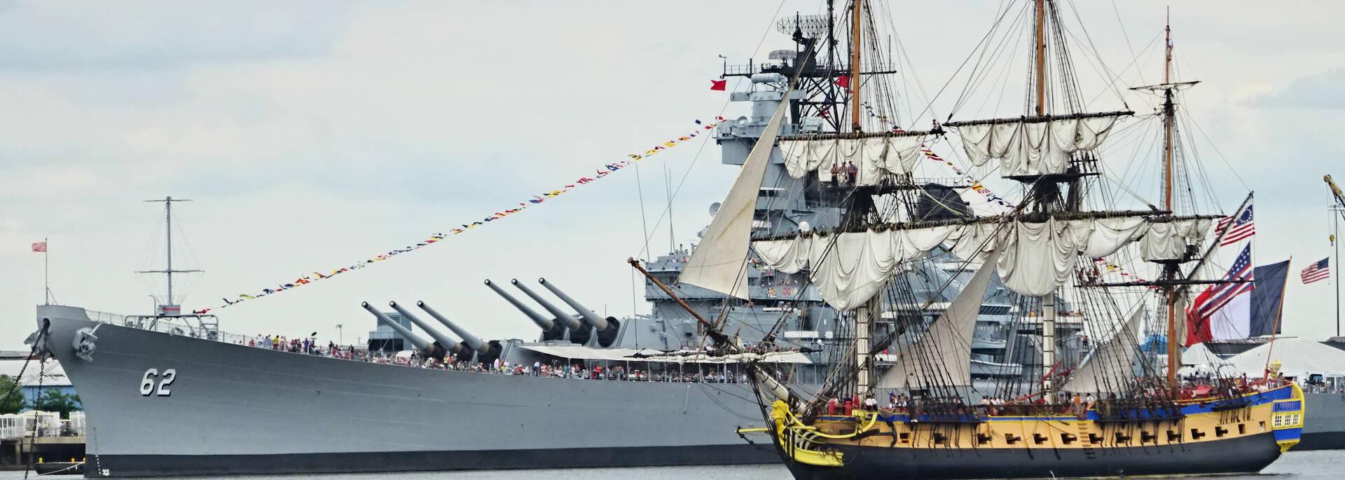 The frigate arriving in Philadelphia, United-Sates - © Office de tourisme Rochefort Océan