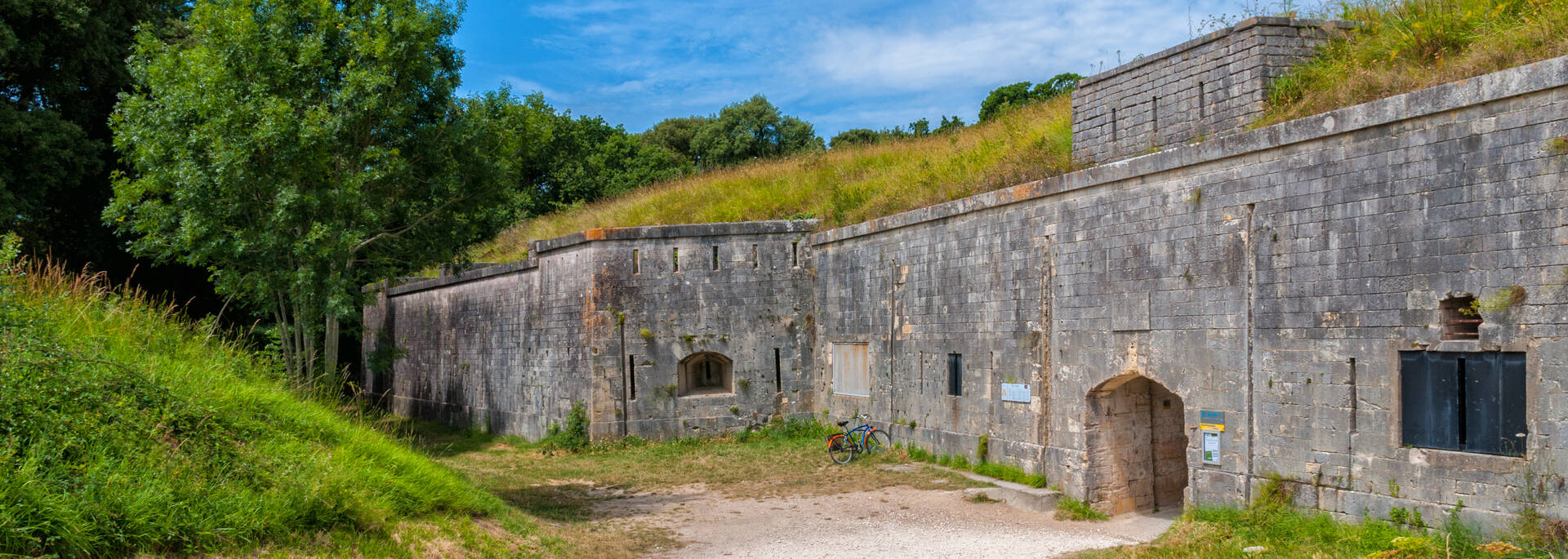 Entrance of Fort Liédot on Aix Island- © Vincent Edwell