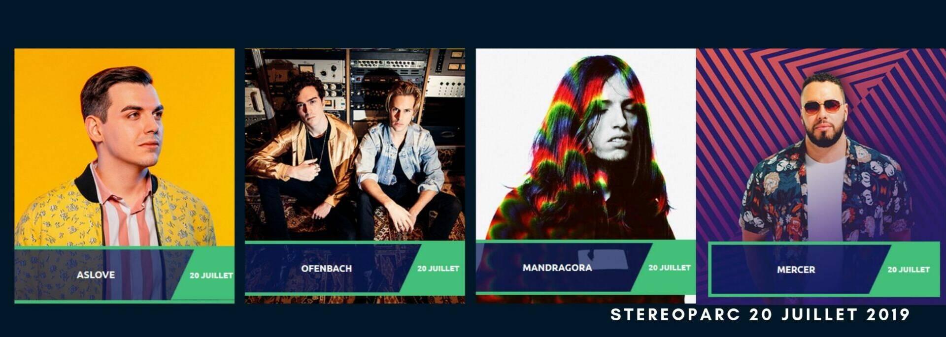Programmation des DJ du 20 juillet à Rochefort pour Stereoparc festival