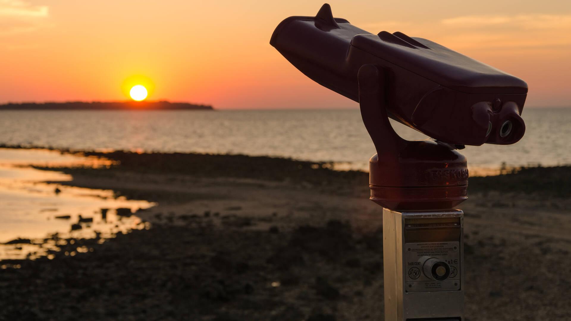 Coucher de soleil à la Pointe de la Fumée, Fouras - © Dfred Photographie