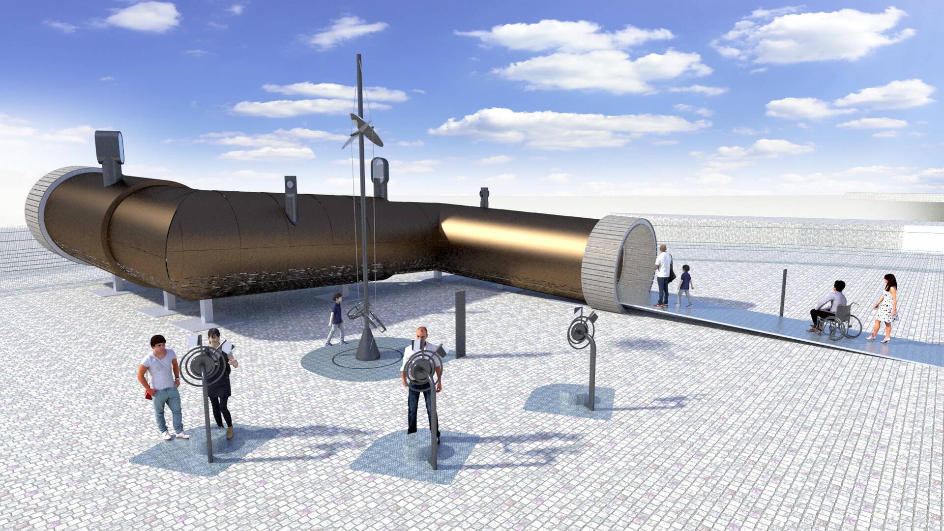 Comprendre, par l'immersion dans une réplique géante, le principe du périscope© CRP Design Global
