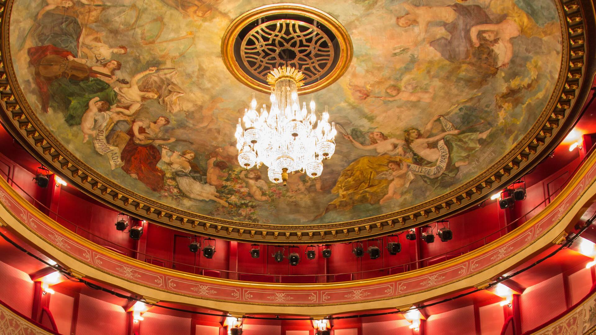Passez une soirée au Théâtre de La Coupe d'Or, superbe théâtre à l'italienne du XVIIIème siècle - © David Compain - Ville de Rochefort