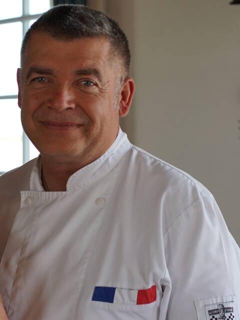 Pascal Hue, propriétaire du restaurant L'Escale de Lupin et artisan traiteur, Rochefort Océan ©Chrystelle ECALE