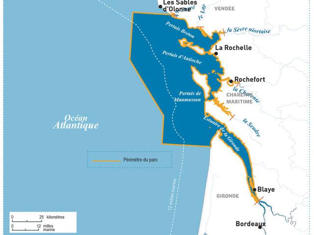 Carte du Parc naturel marin ©OFB-parc marin