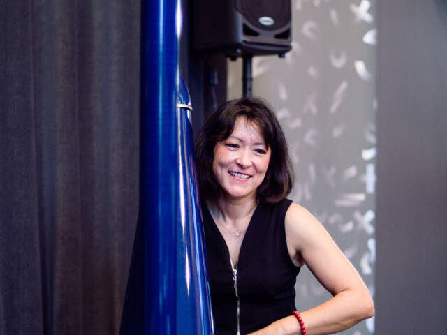 Magali Zsigmond, harpiste, dîner musical au casino de Fouras-les-Bains Saint-Valentin, Rochefort Océan