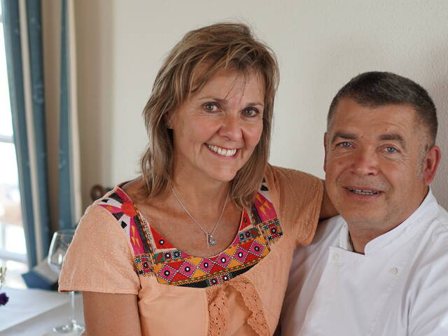 Pascal Hue et Catherine, restaurant L'Escale de Lupin - Rochefort Océan ©Chrystelle ECALE