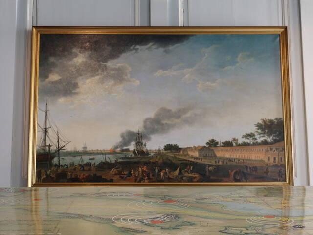 """""""Vue sur le port"""", Joseph Vernet, musée national de la Marine, Rochefort Océan"""