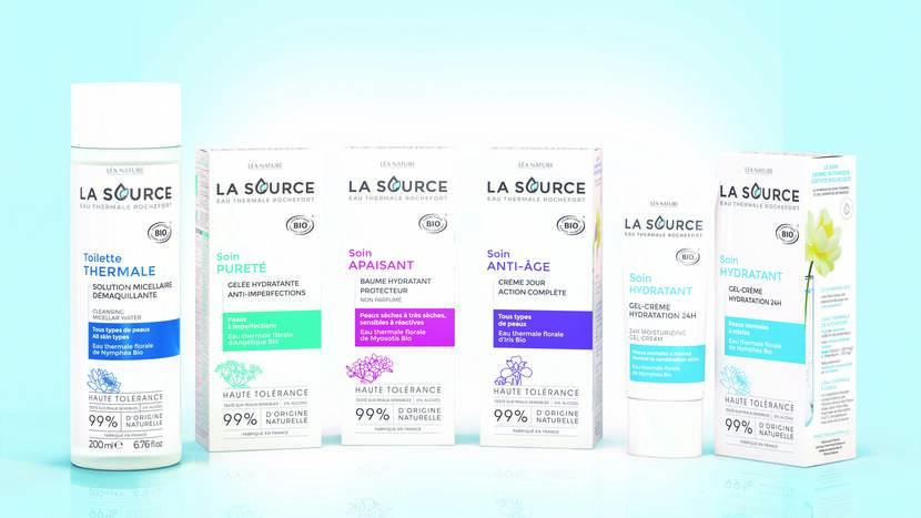 Gammes de produits La Source® Eau Thermale Rochefort ©Léa Nature