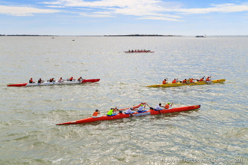 Fort Boyard Challenge 2018 devant l'Ile Madame©Jérôme Houyvet