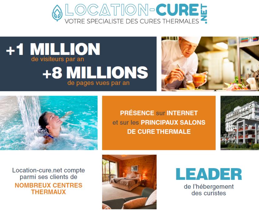 Visuel du site internent location-cure.net