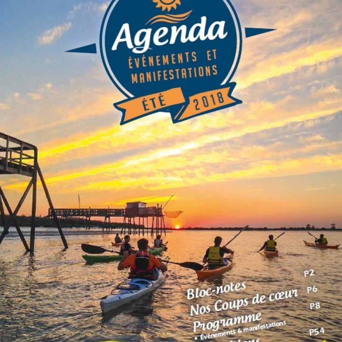 Agenda d'été de juillet à septembre 2018