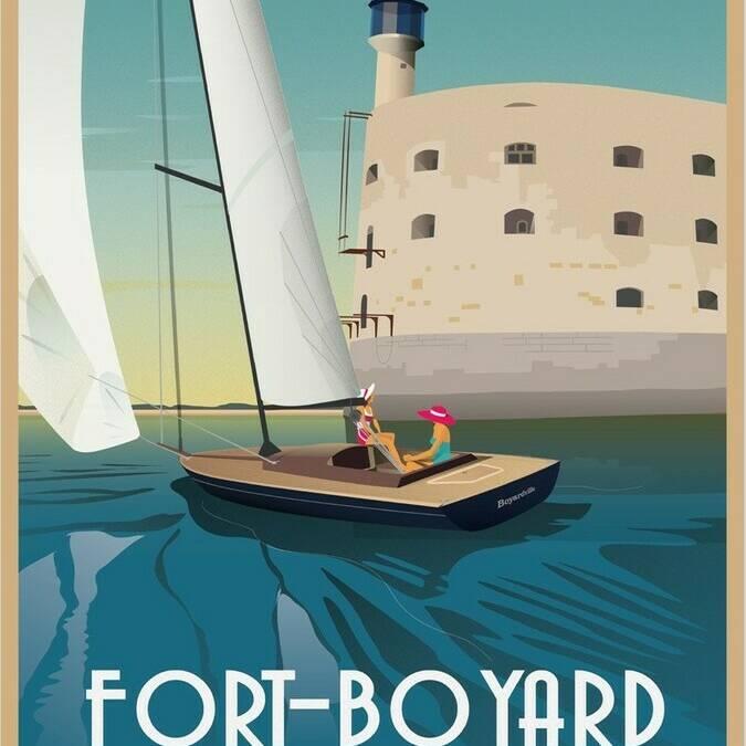 Illustration du Fort Boyard par Doz Vintage