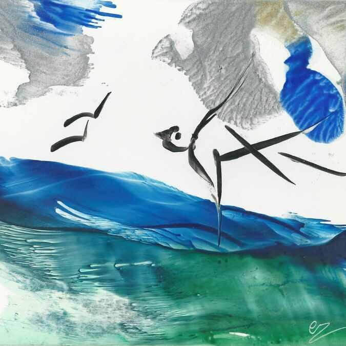 Peinture à la cire, Catherine Réault Crosnier, Fouras, Rochefort Océan