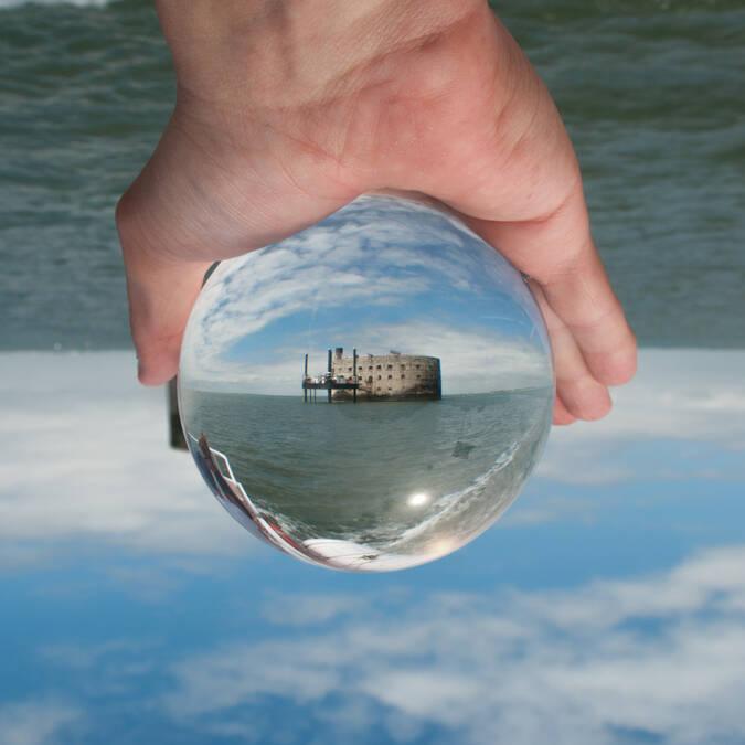 Fort Boyard in a crystal ball - © Vincent Edwell