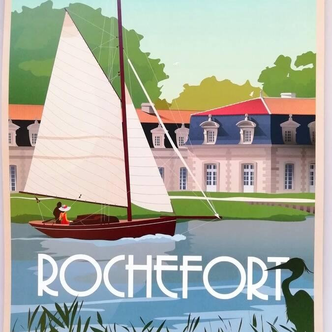 Illustration de Rochefort par Doz Vintage