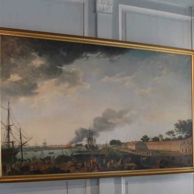 Tableau de Vernet exposé au musée national de la Marine Rochefort © M. Domenici
