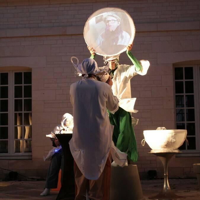Visite nocturne, les Noctambulations, Rochefort © Cie du Tacot - Service du Patrimoine Rochefort