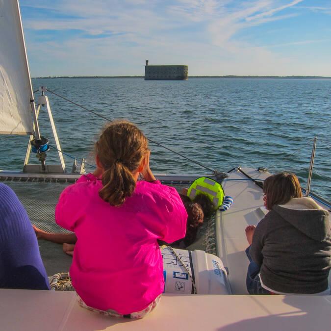 Croisière autour du Fort Boyard en catamaran - © Catamaran Vertige