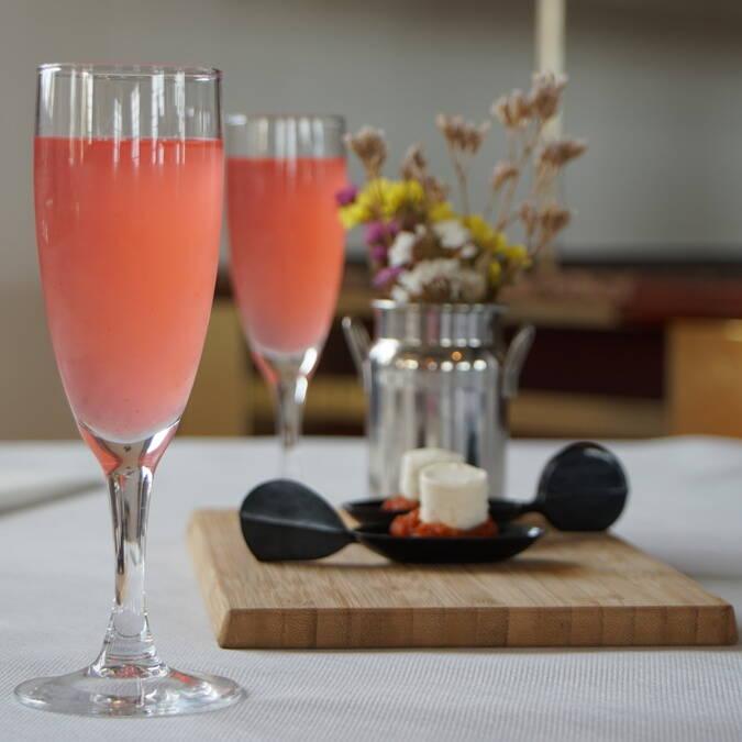 Cocktail sans alcool mojito framboise, restaurant L'Escale de Lupin, St Nazaire sur Charente, Rochefort Océan
