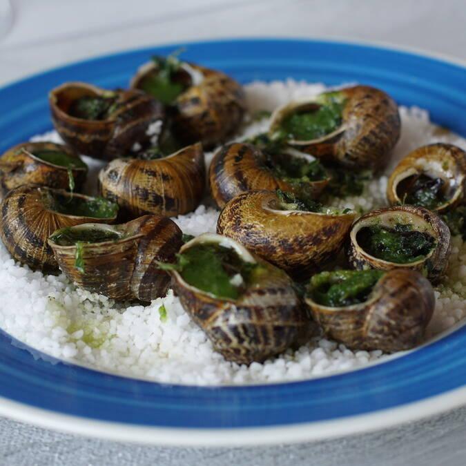 Assiette de petits gris, restaurant L'Escale de Lupin, St Nazaire sur Charente, Rochefort Océan